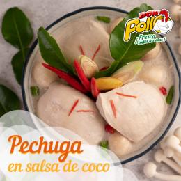 Pechuga de pollo en salsa de coco