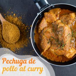 Pechuga de pollo al curry